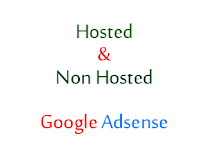 Hosted and Non hosted google adsense