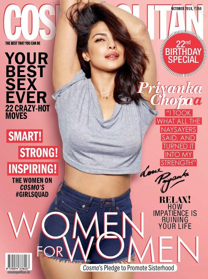 Cosmopolitan Magazine October 2018 featuring Priyanka Chopra-PDF download