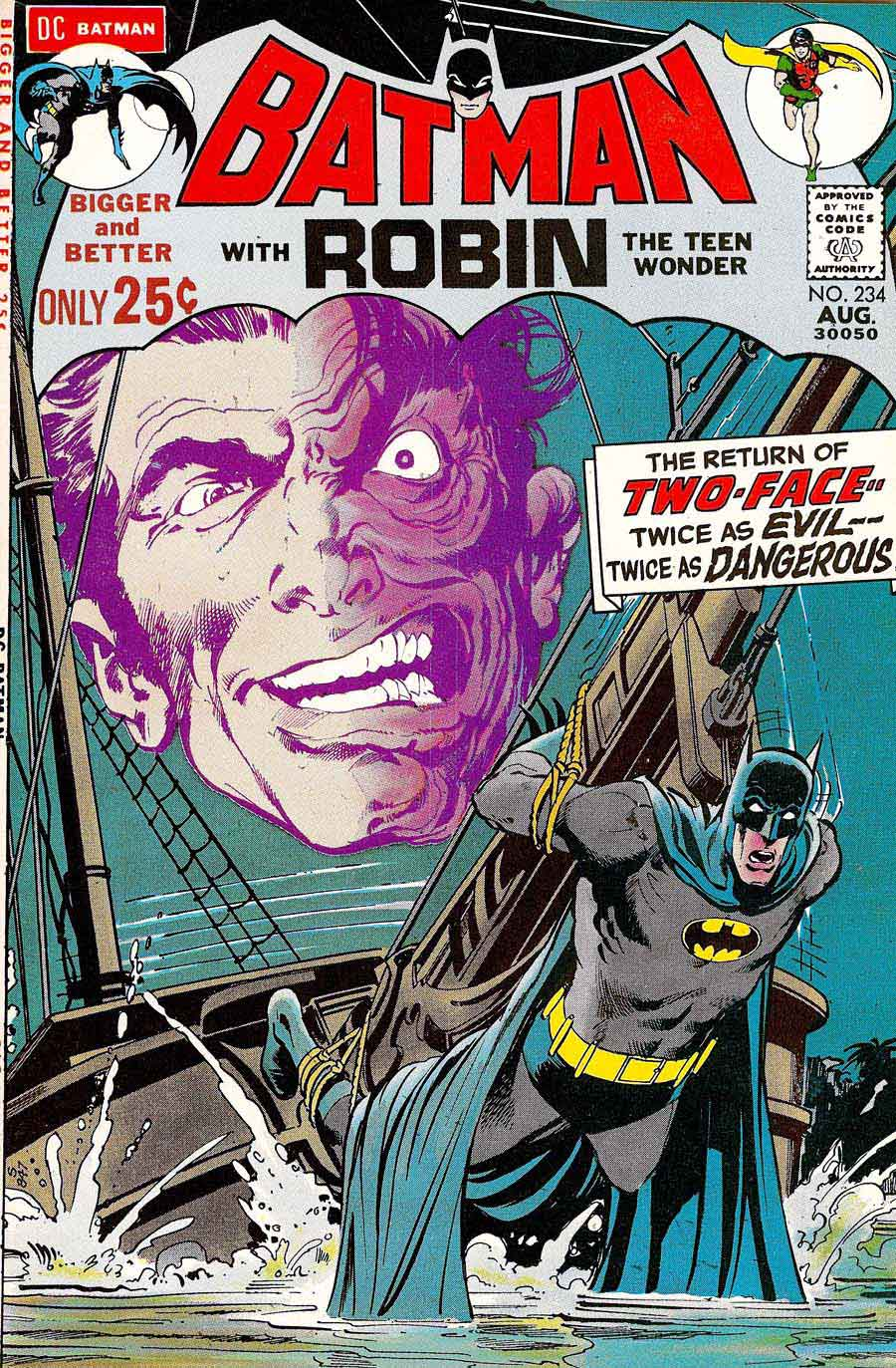 Batman v1 #234 dc comic book cover art by Neal Adams