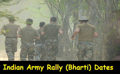 Indian Army Rally (Bharti) February 2016 Dates
