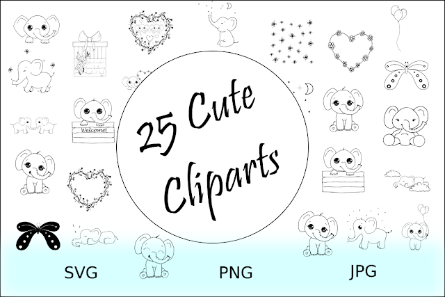 elephant clipart collection