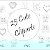 ➳ Cute Elephant Doodle Clipart Collection