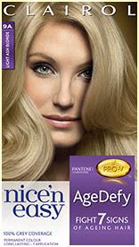 Nice'n Easy Age Defy Permanent Hair Dye Light Ash Blonde 9A