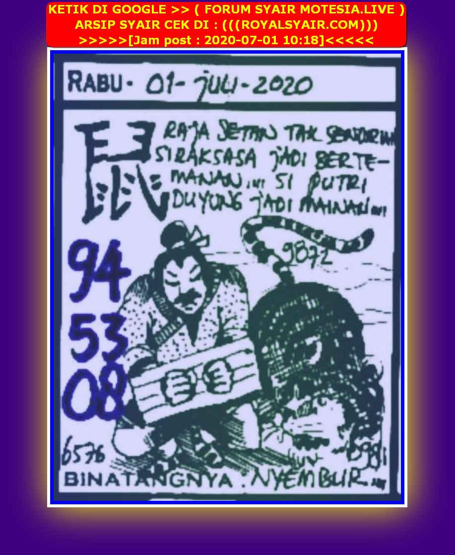 Kode syair Sydney Rabu 1 Juli 2020 47