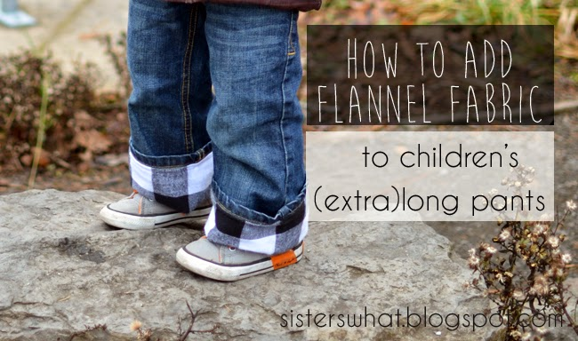 add flannel fabric to children's long pants
