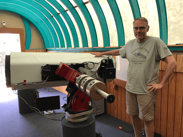 Insight Observatory Managing Member / Systems Engineer, Muir Evenden with ATEO-1.