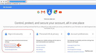 Gmail MyAccount Settings