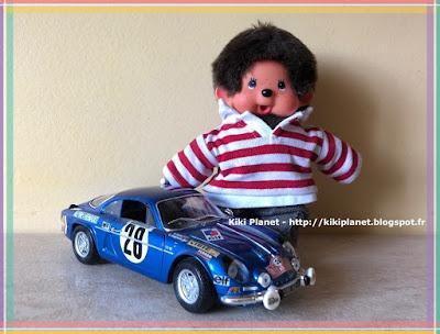 kiki monchhichi bubbles alpine renault berlinette a110 course automobile voiture ancienne collection