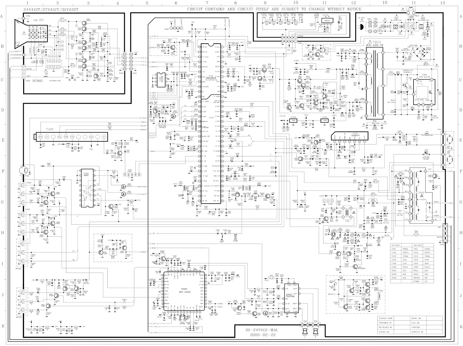 hight resolution of rca tv schematic diagram wiring diagram splitrca 24v12t rca 27v412t rca 32v432t crt tv schematic rca