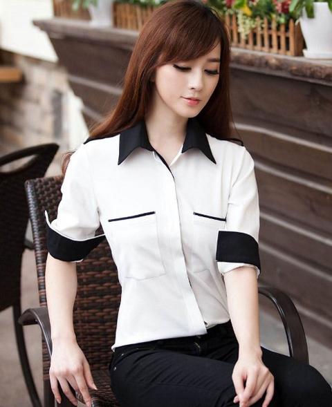 model baju kemeja putih wanita