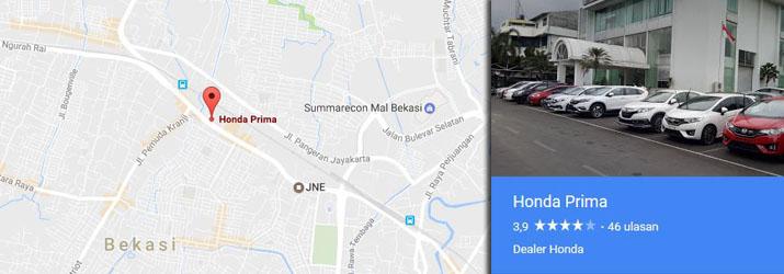 Alamat Showroom Dealer Honda Primas Bekasi