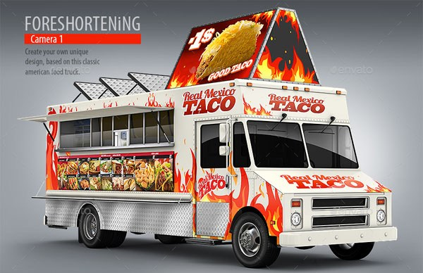 10 Best Food Truck Mockup With Fully Editable PSDs