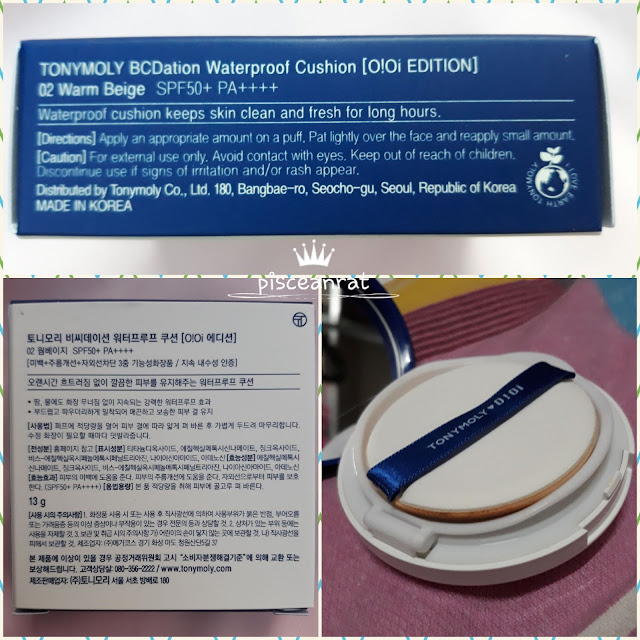 TONYMOLY X O!Oi BCDation Waterproof Cushion