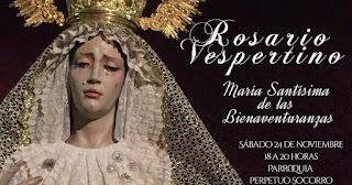 María Santísima de las Bienaventuranzas saldrá en Rosario Vespertino: Horario e Itinerario