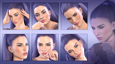 Z Pure Emotion - Morph Dial and One-Click Expressions for the Genesis 3 Female
