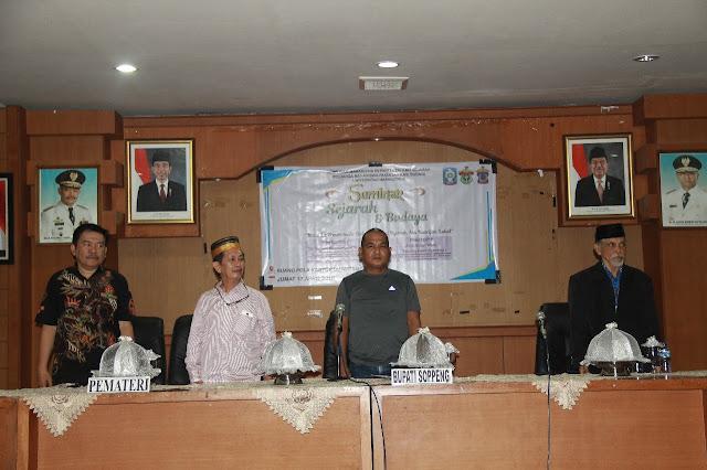 Buka Seminar Sejarah dan Budaya, Sekda Sebut Soppeng Daerah yang Menarik Untuk Dikaji