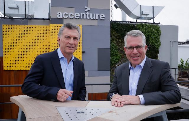 Macri encabezó la inauguración del nuevo edificio de Accenture en Argentina