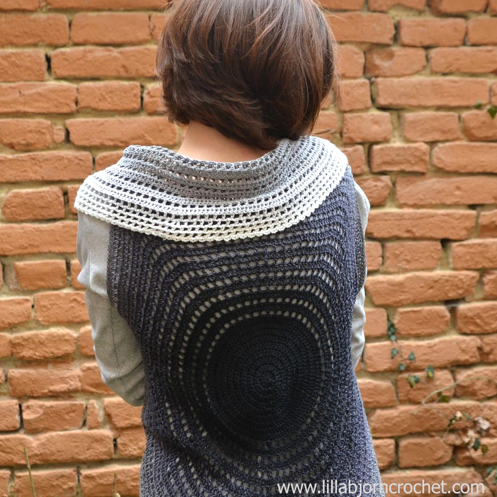 Crochet mandala vest - made with Whirl yarn by Scheepjes - original design by Lilla Bjorn