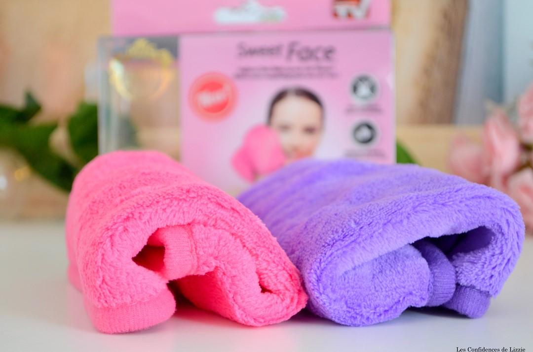 serviette demaquillante exfoliante sweet face - victoires de la beaute 2016 - serviette special cheveux - pratique - ecolo - nouveautes beaute economiques