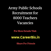 Army Public Schools Recruitment for 8000 Teachers Vacancies