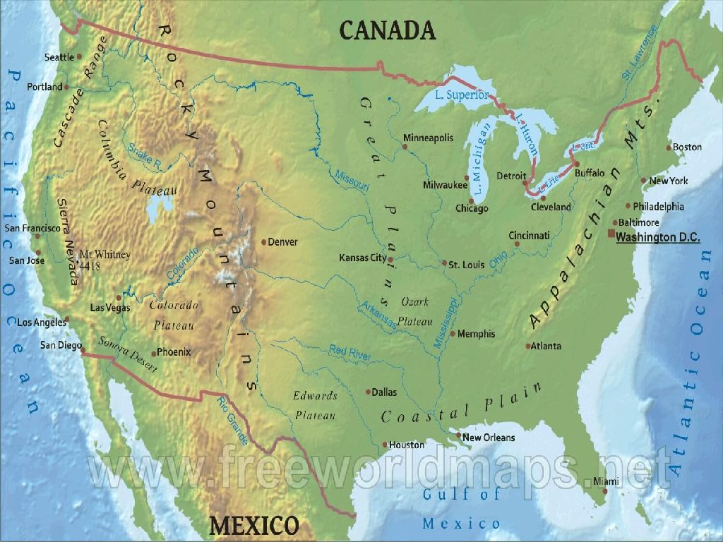 map of the united states mountain ranges