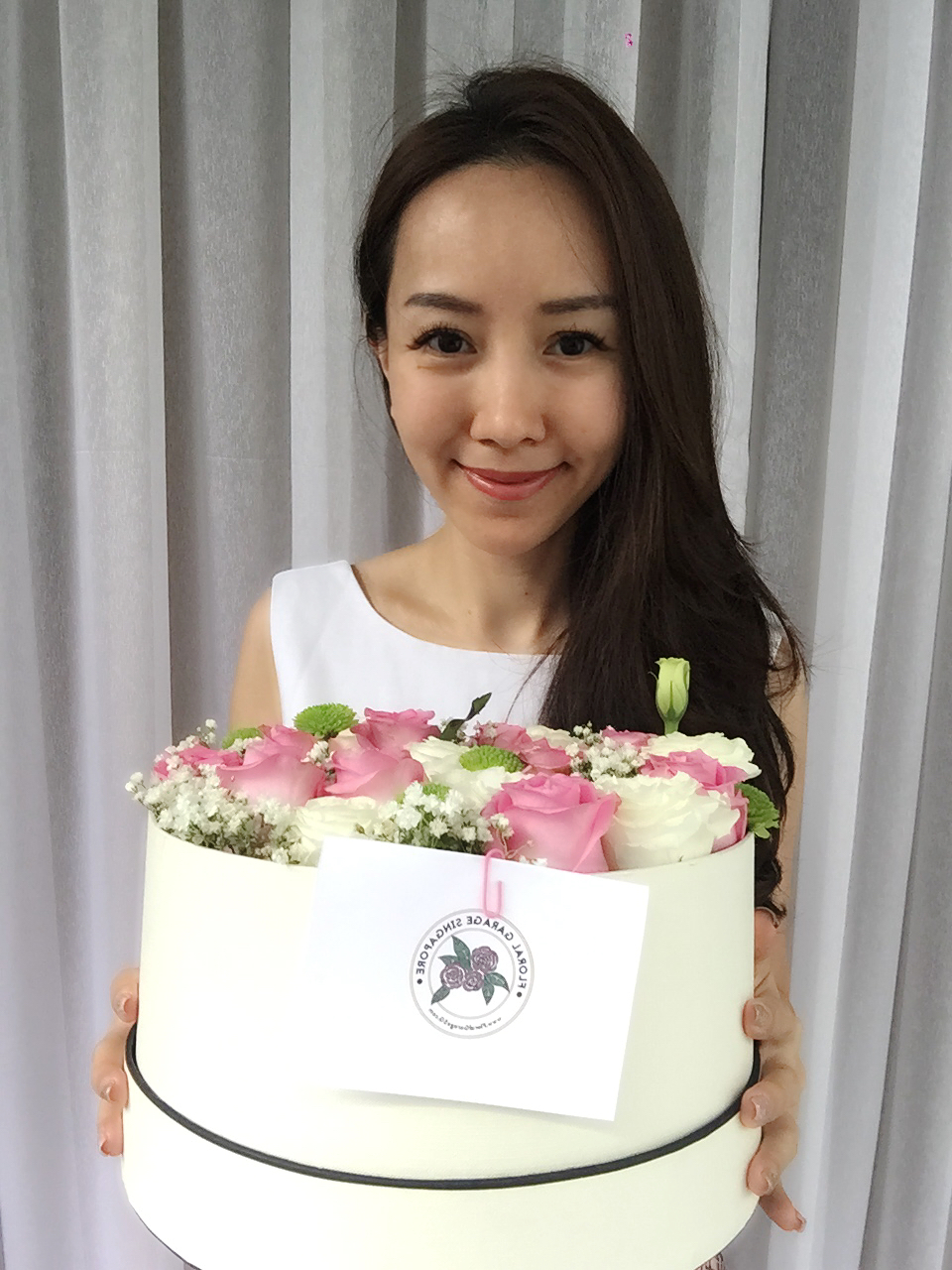 Flowers In A Box From Floral Garage Singapore Elaine Heng