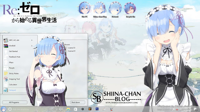 Windows 10 Ver. 1607 Theme Rem Re:Zero by Enji Riz