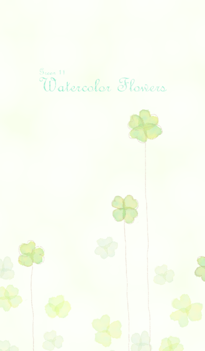 Watercolor Flowers[Clover]/Green11