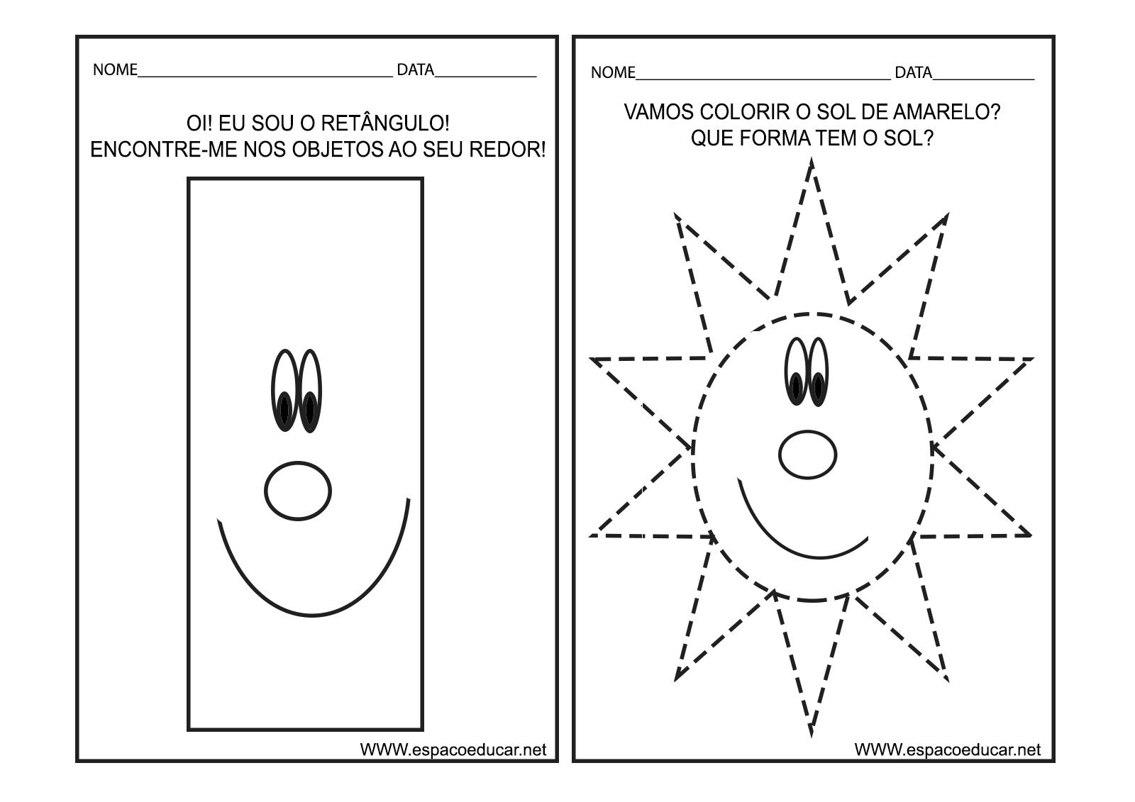 Extremamente ESPAÇO EDUCAR: Caderno de Atividades Cores e Formas para Educação  QU77