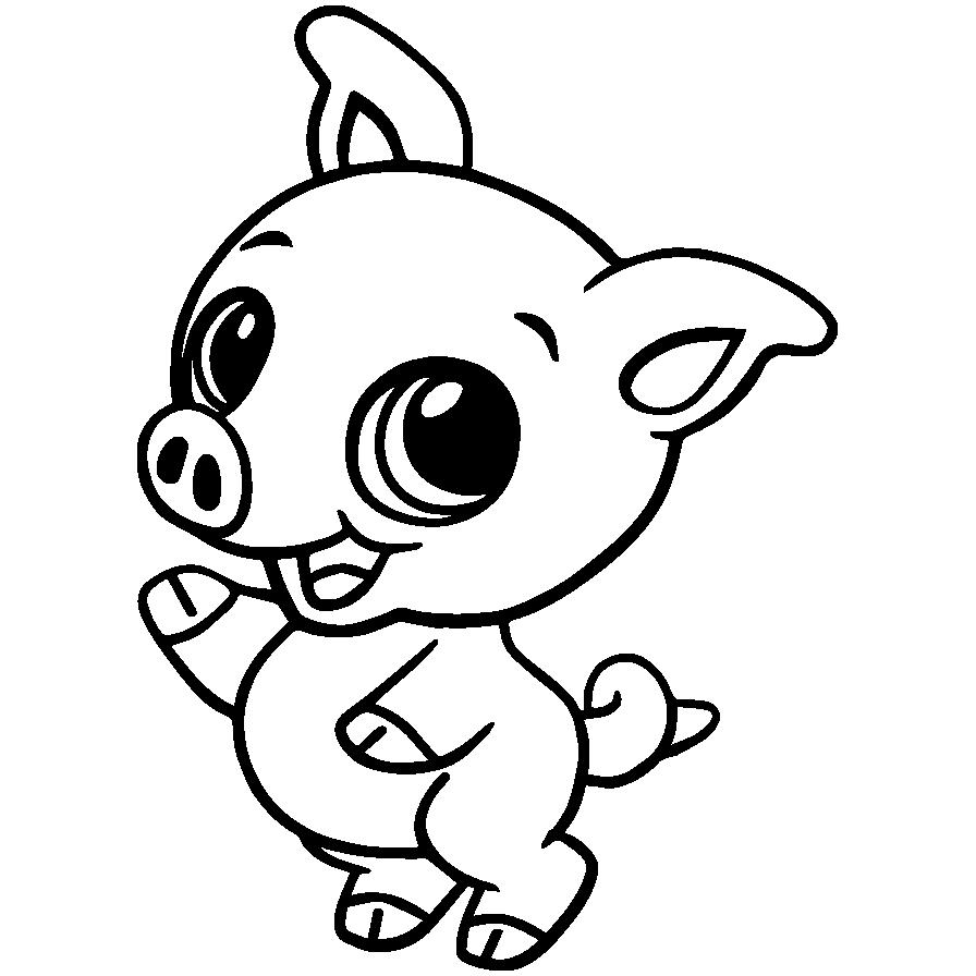 Mewarnai Gambar Hewan Piggie Babi Aneka Mewarnai Gambar