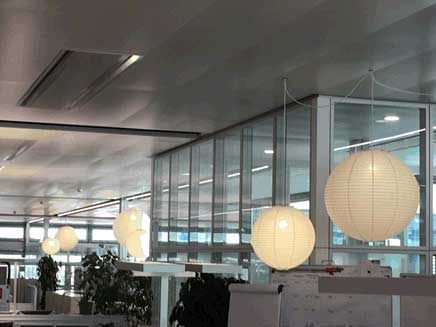 Plain Washi Lanterns For Your Office.