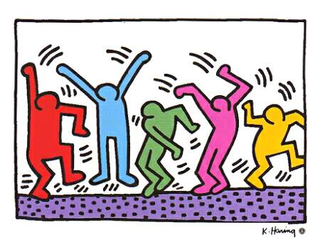 Keith Haring's dancers