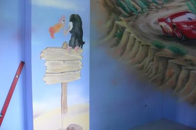 Artystyczne malowanie pokoju chłopca, zagospodarowanie poddasza, Warszawa