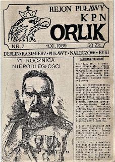 Orlik pismo KPN Region Puławy 1989