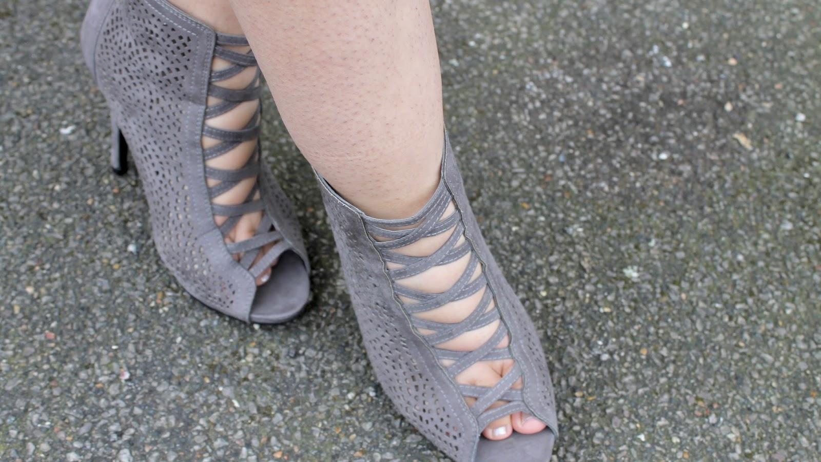Primark Grey Cut Out Heels