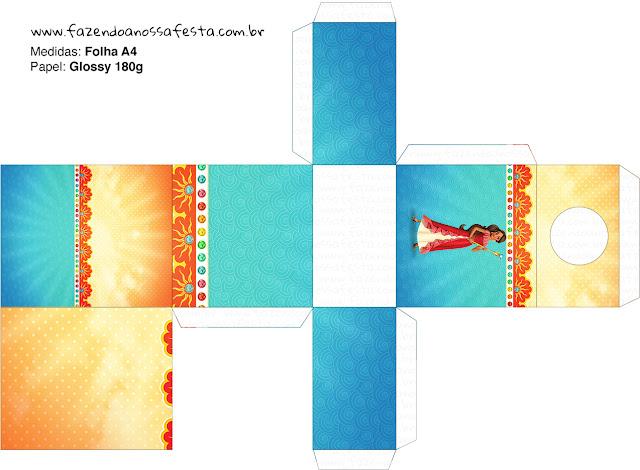Cajas de Elena de Avalor para imprimir gratis.