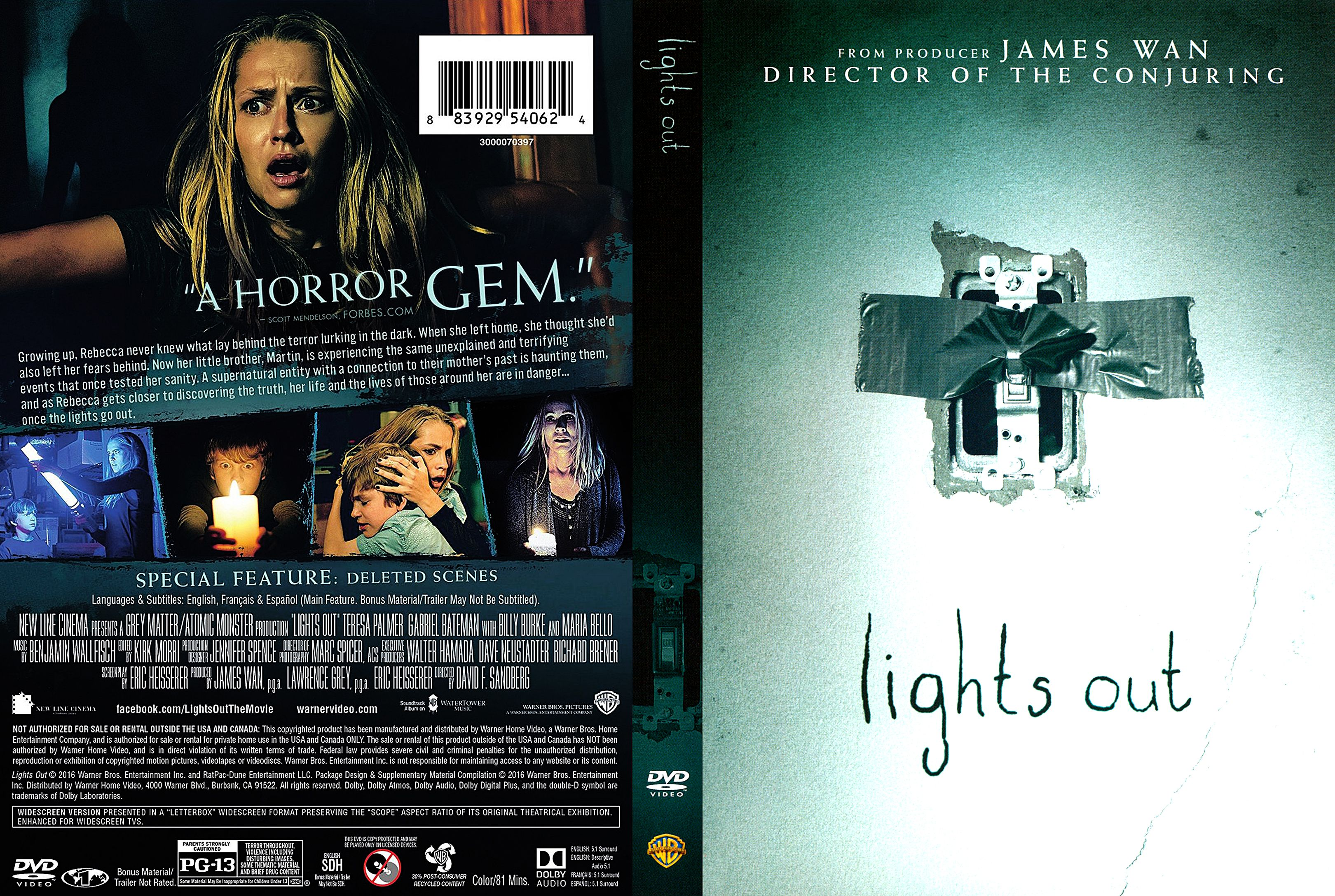Lights Out DVD Cover ...