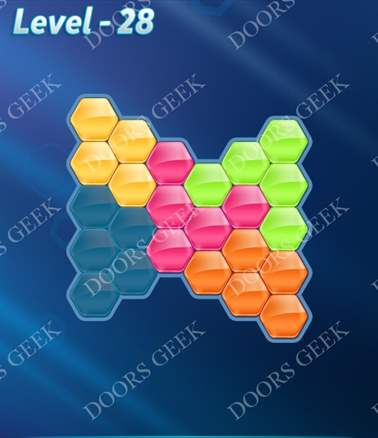 Block! Hexa Puzzle [Intermediate] Level 28 Solution, Cheats, Walkthrough for android, iphone, ipad, ipod