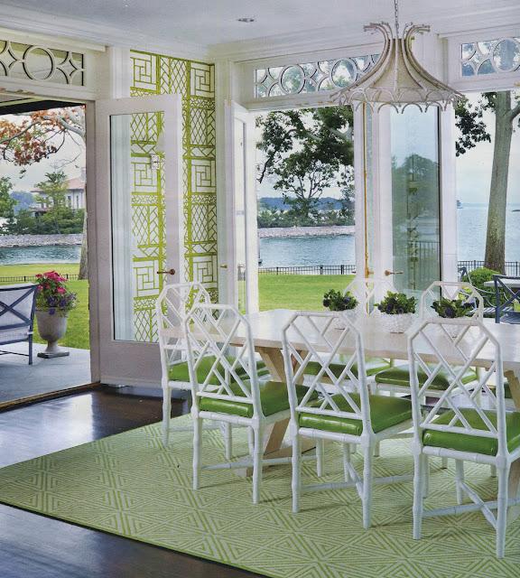 Chinoiserie Chic Green And White