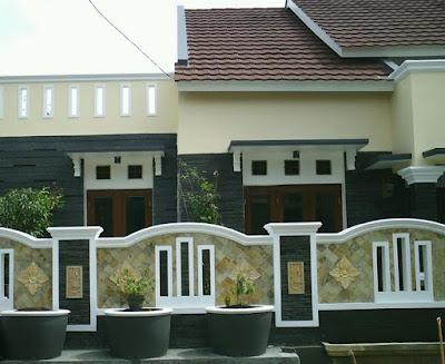 Desain Pagar Rumah Minimalis dengan Batu Alam
