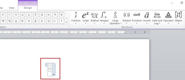 Cara Memasukkan atau Menulis Rumus Matematika Di Microsoft Word