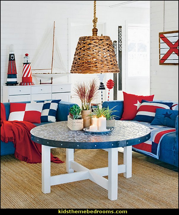 nautical bedroom ideas - nautical decorating - nautical accessories
