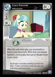 My Little Pony Coco Pommel, Refurbisher The Crystal Games CCG Card