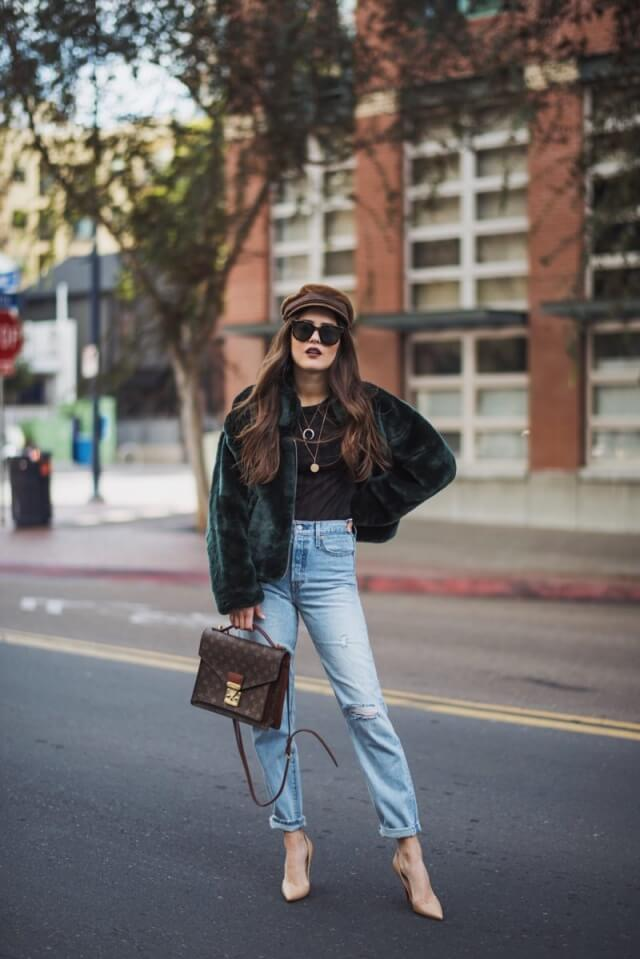 abrigo de pelo faux fur coat