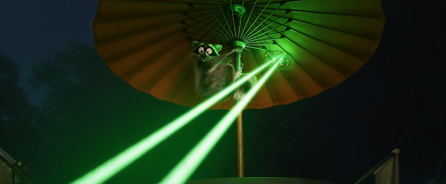 Incredibles 2 Raccoon runs from Jack-Jack
