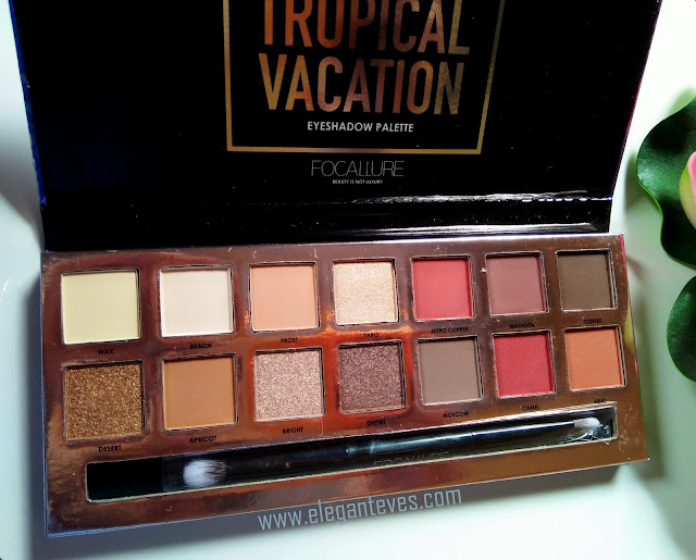 Focallure Tropical Vacation Eyeshadow palette Review, Swatches