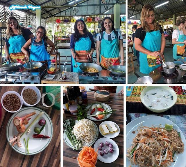 curso de culinária Chiang Mai
