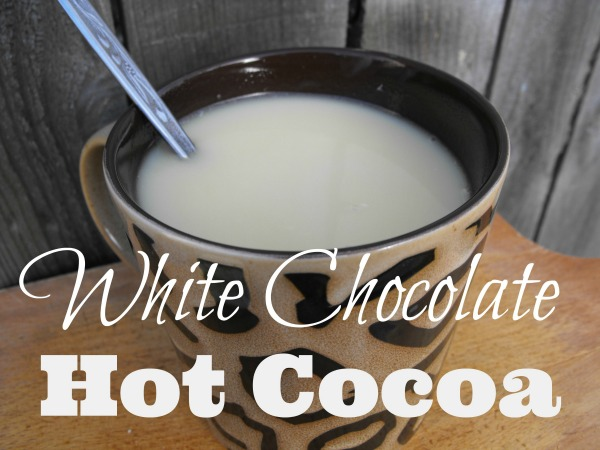 white chocolate hot cocoa