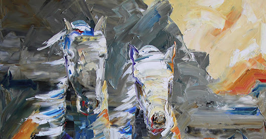 Been on your knees lately? Western Horse Painting by Texas Artist Laurie Pace