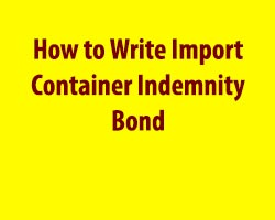 Write Import Container Indemnity Bond